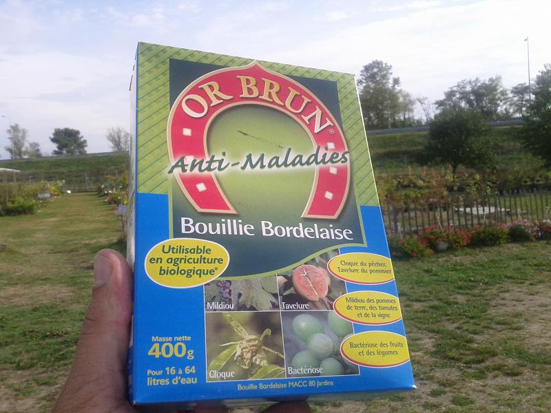 Boite de bouillie bordelaise Or-Brun
